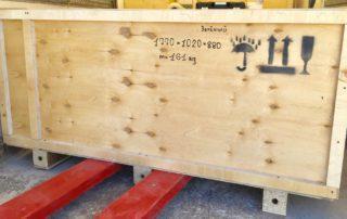 Упаковка оборудования, готово к погрузке