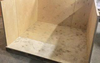 Подготовка коробки из фанеры для упаковки