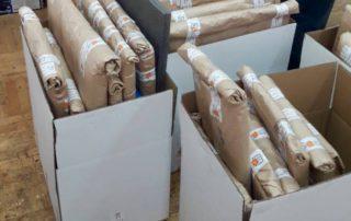 Картины упакованы и готовы к транспортировке