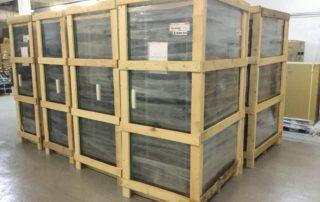 Оборудование на складе, упаковано