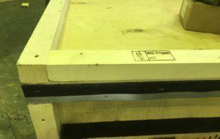 Стык деревянной упаковки