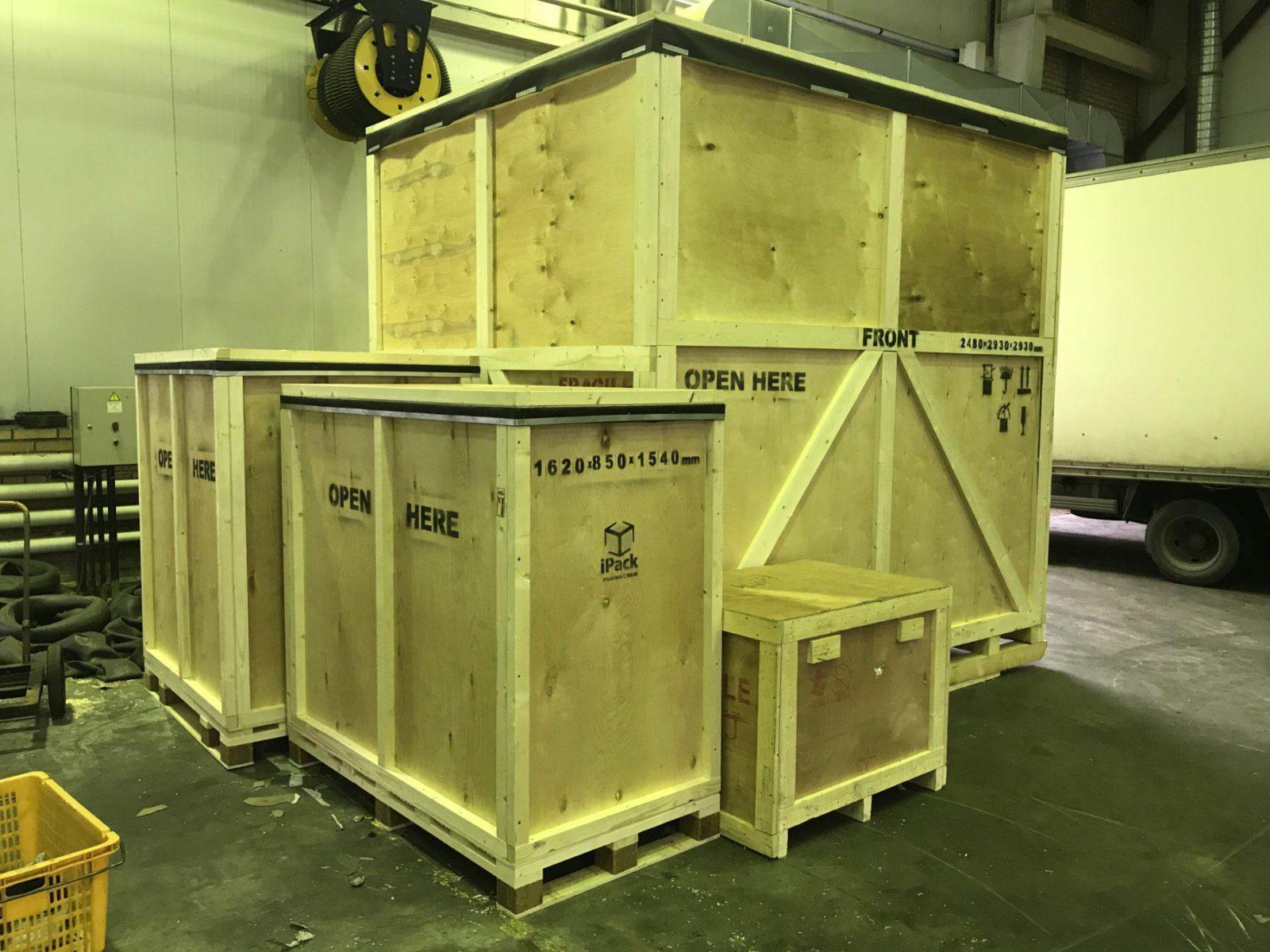 Готовый заказ по упаковке оборудования