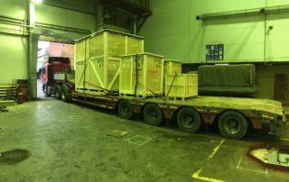 Перевозка упакованного оборудования